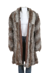 Gray Vintage Faux Fur Coat Size M/L