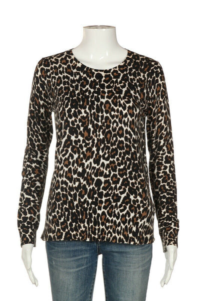 J.CREW Cheetah Animal Print Sweater Size S