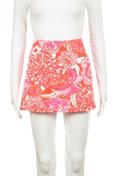 LILLY PULITZER Printed Mini Skirt Size 2