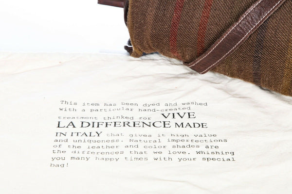 VIVE LA DIFFERENCE Suede Leather Shoulder Bag