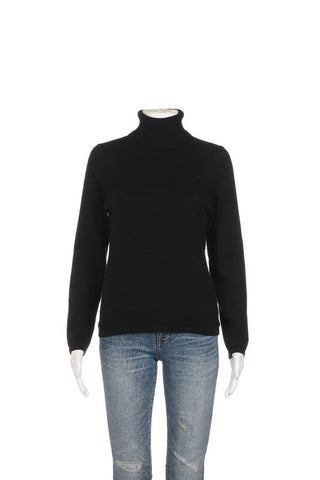 LORD & TAYLOR 100% Cashmere Turtleneck Sweater Size M