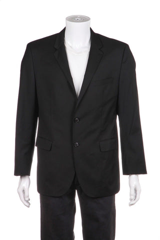 HUGO BOSS Men's Suit Blazer Black Wool Sports Coat Size 42R