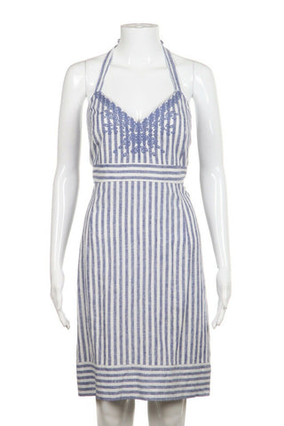 VINEYARD VINES Striped Halter Dress Size 10 (New)