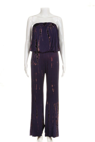 FREELOADER Strapless Tie Dye Jumpsuit Size S