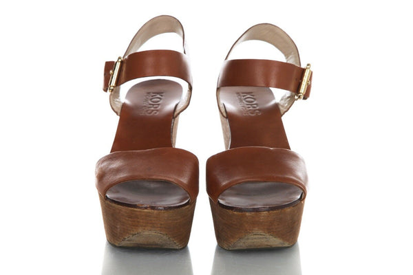 MICHAEL KORS Leather Platform Sandals Size 9