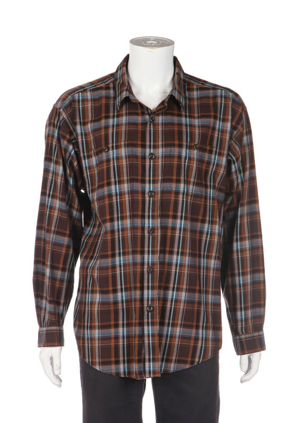 PATAGONIA Men's Plaid Button Down Shirt Size L