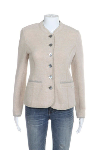 GEISSWEIN  Knit Fitted Blazer Jacket Size 36 (S)