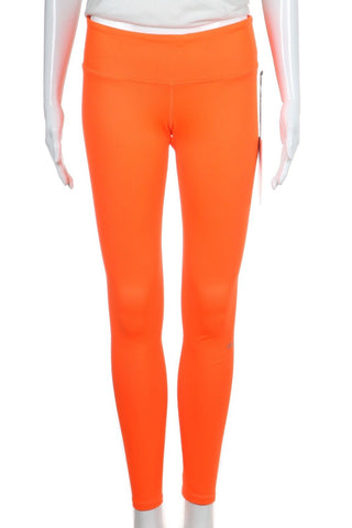 ALO Yoga Neon Orange High Waisted Yoga Leggings Pants Size S (New)