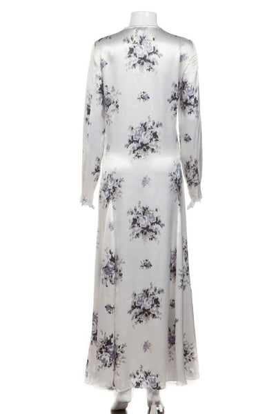 GANNI Cameron Long Sleeve Dress Egret Size 38 (New)