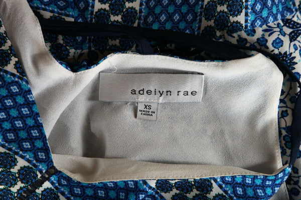 ADELYN RAE Asymmetrical Printed Dress Size XS