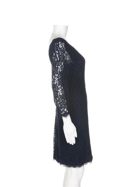 DIANE VON FURSTENBERG Lace Cocktail Dress - side view