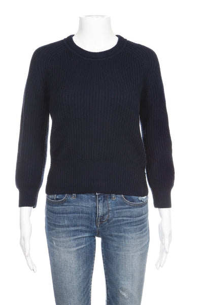ISABEL MARANT ÉTOILE Blue Wool Ribbed Sweater