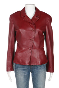 OSCAR DE LA RENTA Leather jacket Size 8