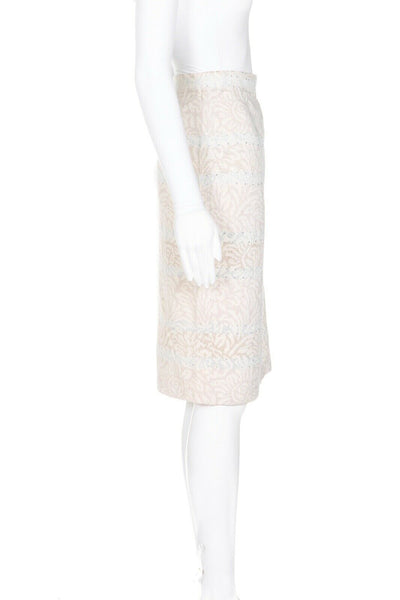 ST. JOHN EVENING Marie Gray Pencil Skirt  - side view