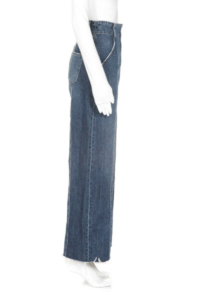 MOUSSY High Waisted Wide Leg Jeans Size 1 (S)