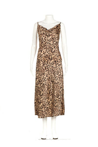 PAPER HEARTS Animal Print Slip Dress Size L