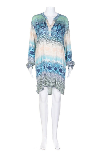 HALE BOB Printed Tunic Shirt Dress Size S