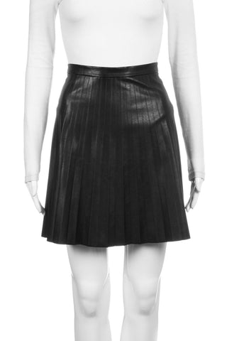 J.CREW Pleated Faux Leather Mini Skirt Size 4
