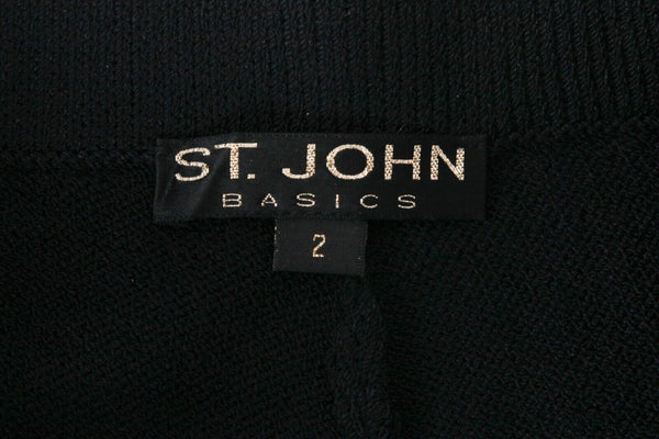 ST. JOHN Basics Wide Leg Knit Pants Size 2
