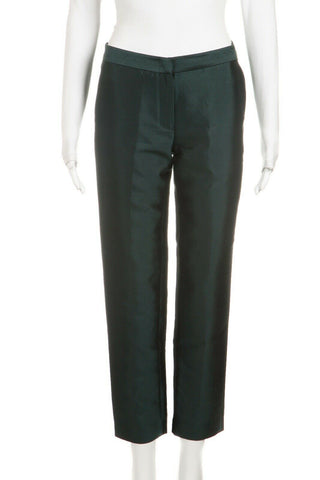 JENNI KAYNE Green Silk Blend Dress Ankle Pants Size 4