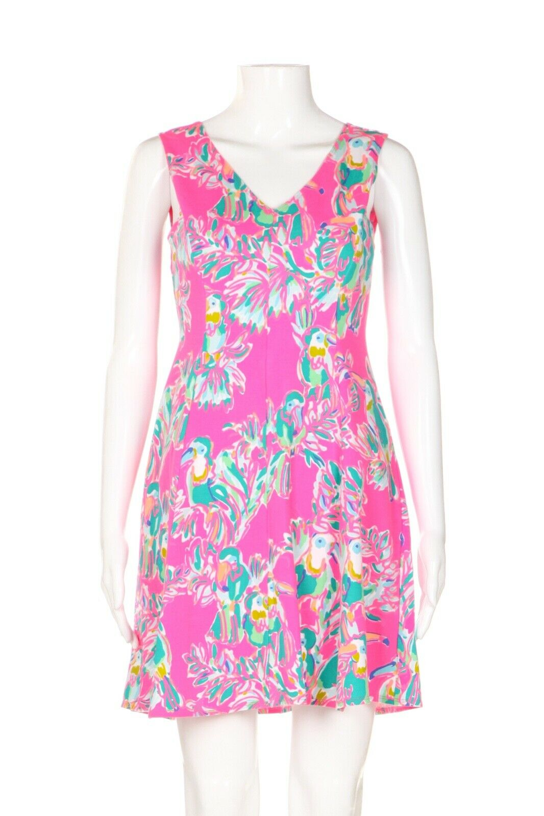 LILLY PULITZER Toucan Print Summer Dress Size XS