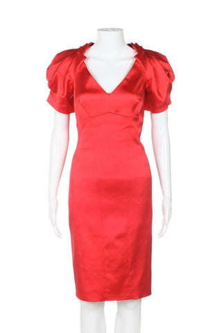 KAREN MILLEN Puff Sleeve Cocktail Dress Size 10