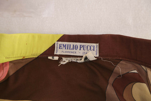 EMILIO PUCCI Vintage Printed Button Down Shirt Size S