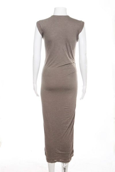 ALLSAINTS Midi Taupe Brown Bodycon Dress