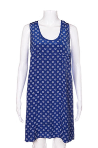 JOIE Blue 100% Silk Tank Dress With Nautical Print Size S