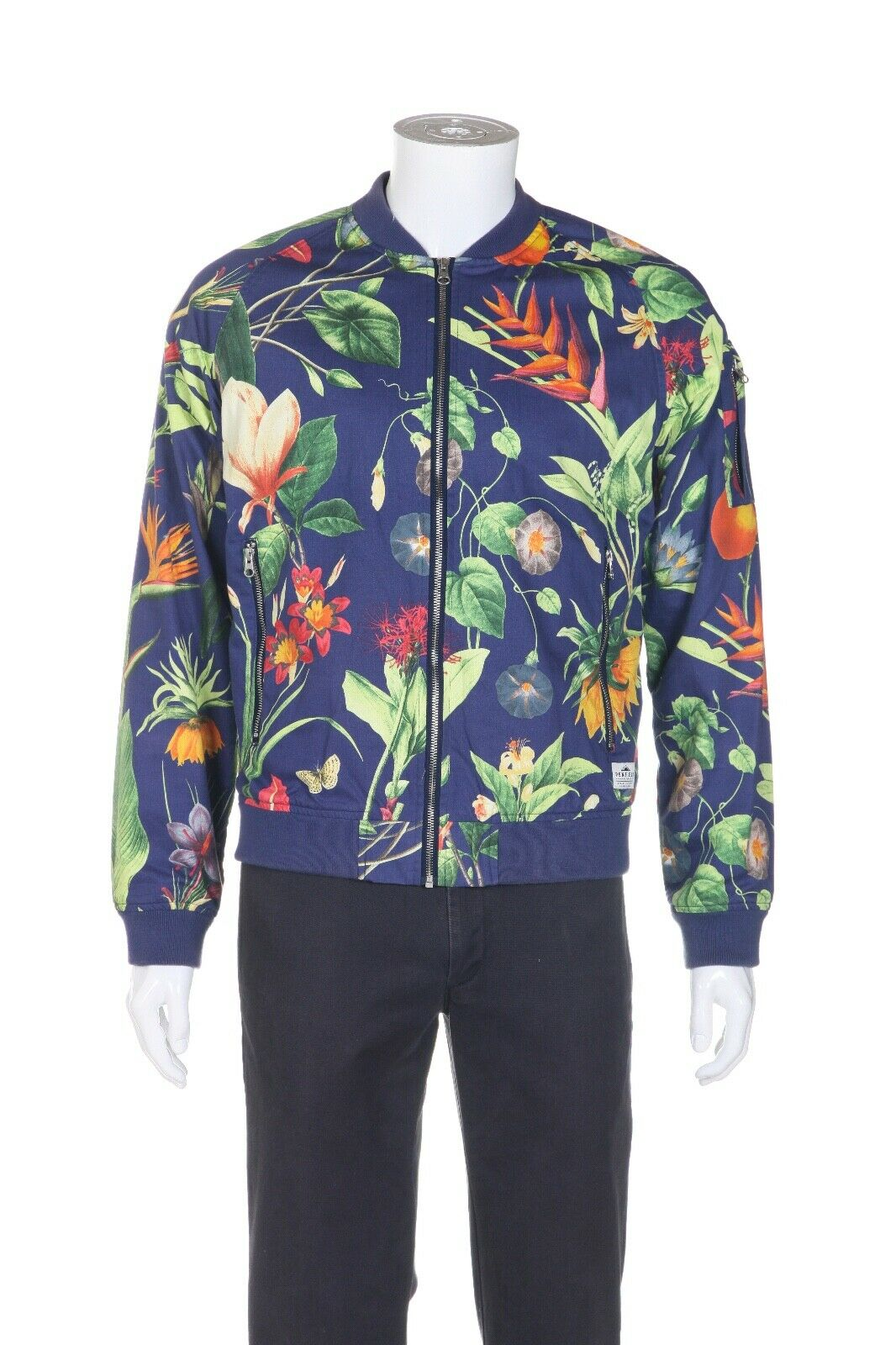 PENFIELD Floral Zip Up Bomber Jacket Size L