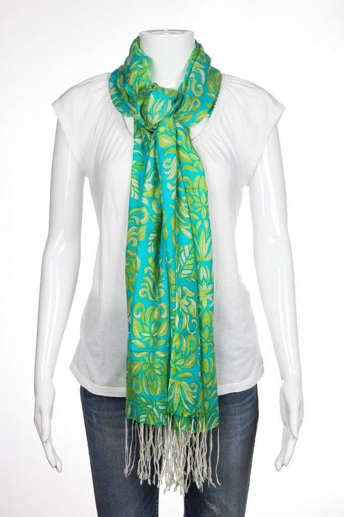 BLUE /& GREEN SCARF by LINEA  NEW WITH TAGS
