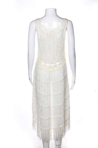 LIRA Crochet Cover Dress Fringe Size L
