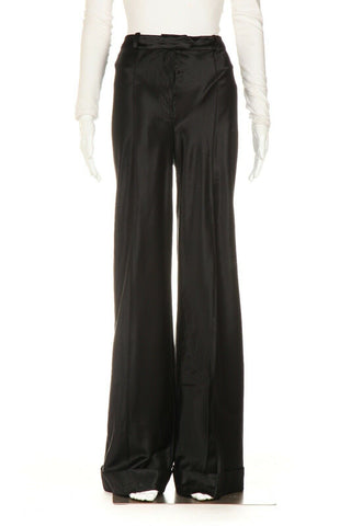 JOHN GALLIANO Wide Leg Satin Pants Size 6