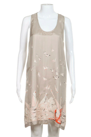 STELLA MCCARTNEY Silk Tank Dress Print Size 40 (S)