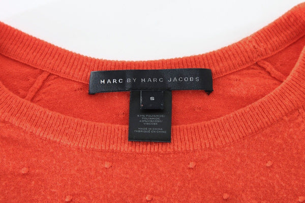 MARC BY MARC JACOBS Orange Polka Dot Knit Sweater Top