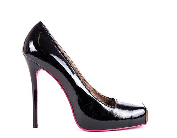 ALEXANDER MCQUEEN Black Patent Leather Pumps Size 39
