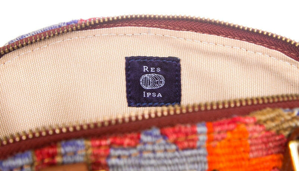 RES IPSA Shoulder Bag Leather Artisan Embroidered Purse