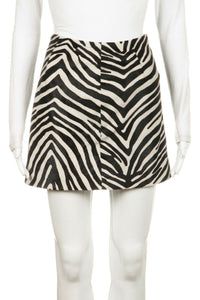 FRAME Zebra Print Pony Hair Mini Skirt Size 26 (S)