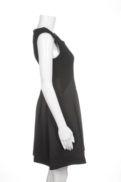 STELLA FOREST Black Scuba Flared Dress Size 36