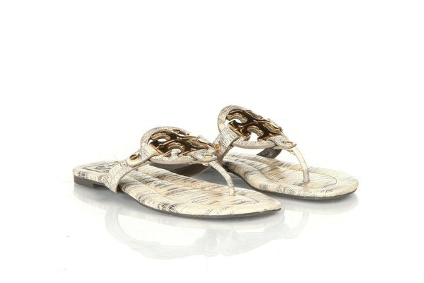 TORY BURCH Snakeskin Thong Sandals Size 6.5