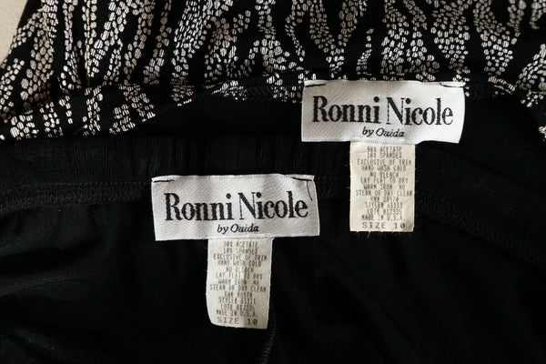 RONNI NICOLE Vintage Formal Pants Top Set Size 10
