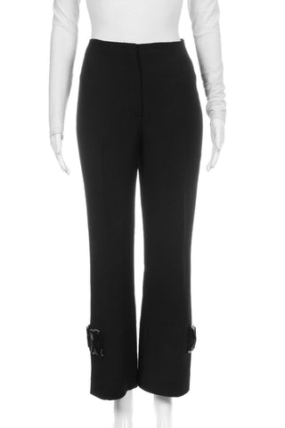 PRADA Cropped Pants with Gem Embellishment Size 44 (8)
