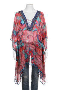 JSQUAD Sheer Tunic Cover Up Size S