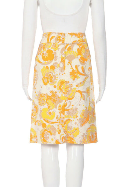 DOLCE & GABBANA Floral Pencil Skirt Size IT42 (M)