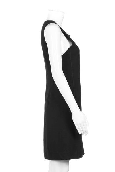 THEORY Black Dress Zip Front Size 8
