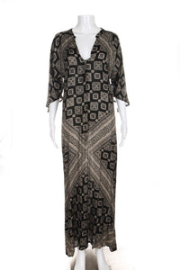 AMUSE SOCIETY Kaftan Maxi Printed Dress Size M (New)