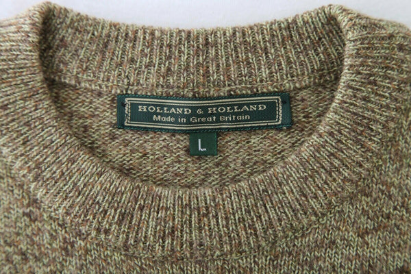 HOLLAND & HOLLAND Drop Waist Knit Wool Sweater Size L