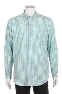 VINEYARD VINES Gingham Print Button Down Shirt Size L