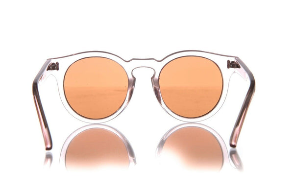 BONNIE CLYDE Round Clear Sunglasses (New)
