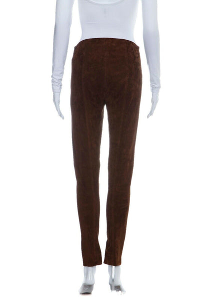 RALPH LAUREN Black Label Skinny Suede Legging Pants Size 6